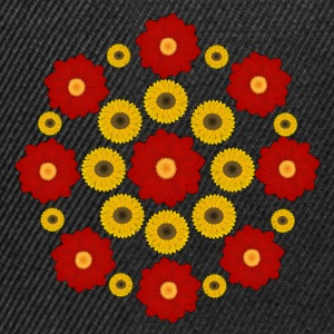 Flowers red and yellow T-shirts - Snapbackkeps