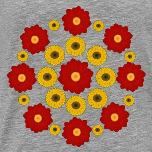 Flowers red and yellow Toppe - Herre premium T-shirt