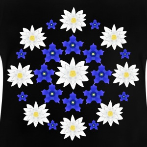 Flowers white and blue Shirts - Baby T-shirt