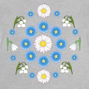Flowers blue white white Shirts - Baby T-shirt