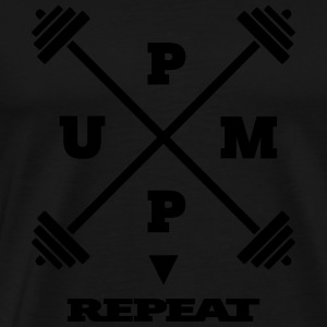 pump it up – repeat [ v2 ] - Männer Premium T-Shirt