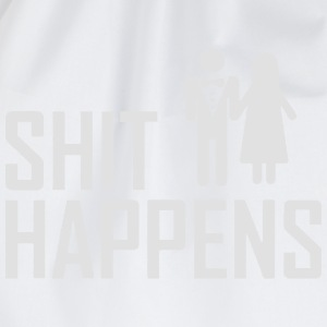 SHIT HAPPENS - WEDDINGS - JGA T-shirts - Gymtas
