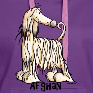 Happy Afghan Hound Shirts - Women's Premium Hoodie