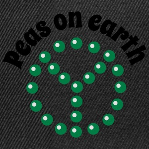Peas on earth Shirts - Snapback Cap
