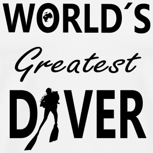 World´S Greatest Diver Buttons & Anstecker - Männer Premium T-Shirt