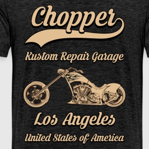 chopper repair garage 01 Sweat-shirts - T-shirt Premium Homme
