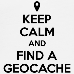 Keep calm and find a geocache Bags & Backpacks - Men's Premium T-Shirt