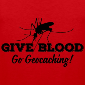 Give blood - go geocaching! T-shirts - Premiumtanktopp herr