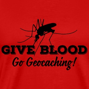 Give blood - go geocaching! Tanktoppar - Premium-T-shirt herr
