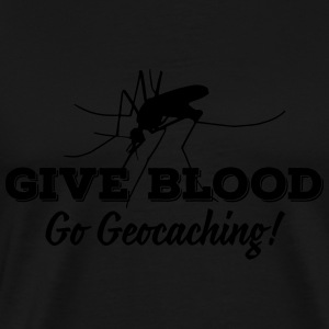 Give blood - go geocaching! Tank Tops - Herre premium T-shirt