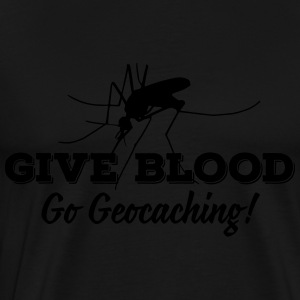 Give blood - go geocaching! Shirts met lange mouwen - Mannen Premium T-shirt