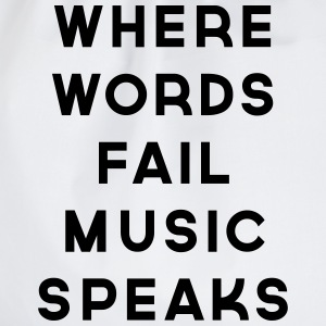 Music Speaks  Camisetas - Mochila saco