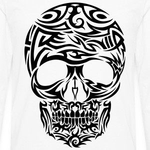 Tribal Tattoo Skull (Black) Men's T-Shirt - Men's Premium Longsleeve Shirt