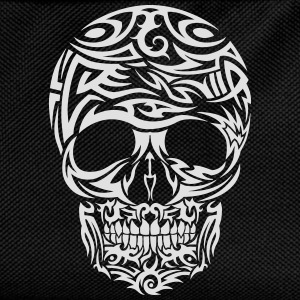Tribal Tattoo Skull (White) Men's T-Shirt - Kids' Backpack