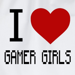 I Love Gamer Girls - Drawstring Bag