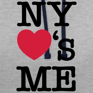NY (New York) Loves Me T-Shirts - Contrast Colour Hoodie