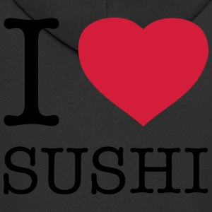 I LOVE SUSHI - Men's Premium Hooded Jacket