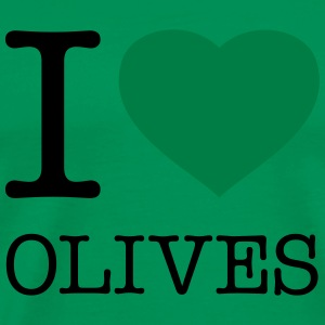 I LOVE OLIVES - Männer Premium T-Shirt