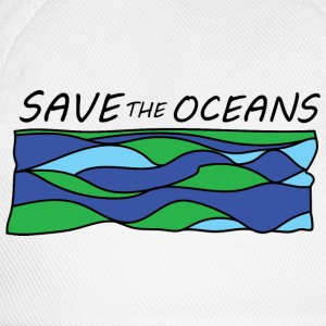 save the oceans  Aprons - Baseball Cap