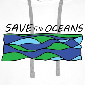 save the oceans  Aprons - Men's Premium Hoodie