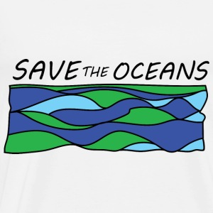 save the oceans  Aprons - Men's Premium T-Shirt