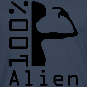 100 pc alien T-Shirts - Men's Premium Longsleeve Shirt