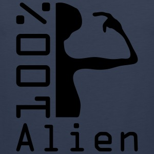 100 pc alien T-Shirts - Men's Premium Tank Top