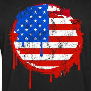 usa grunge flag Tee shirts - Sweat-shirt Homme Stanley & Stella