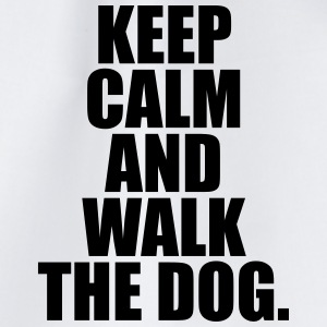 Keep calm and walk the dog. Tassen & Zubehör - Turnbeutel