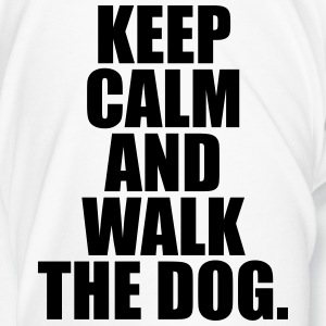 Keep calm and walk the dog. Tassen & Zubehör - Männer Premium T-Shirt