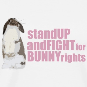 Stand up and fight for bunny rights Muggar & tillbehör - Premium-T-shirt herr