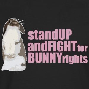 Stand up and fight for bunny rights T-shirts - Långärmad premium-T-shirt herr
