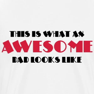 This is what an awesome dad looks like Langarmshirts - Männer Premium T-Shirt
