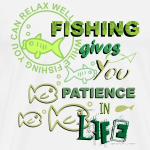 Fishing patience - bright Shirts Tank Tops - Men's Premium T-Shirt