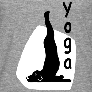 Yoga Dog Looking   - Männer Premium Langarmshirt