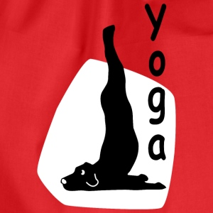 Yoga Dog Looking - Turnbeutel