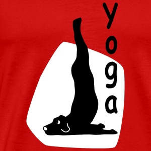 Yoga Dog Looking - Männer Premium T-Shirt
