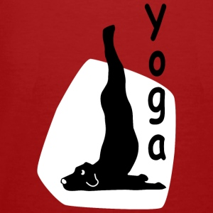Yoga Dog Looking   - Männer Bio-T-Shirt