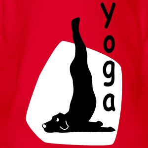 Yoga Dog Looking - Baby Bio-Kurzarm-Body