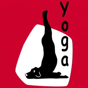 Yoga Dog Looking   - Männer Kontrast-T-Shirt
