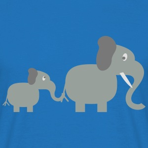 elephant and baby Tabliers - T-shirt Homme
