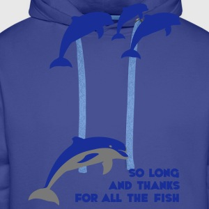 So long and thanks for all the fish Tee shirts - Sweat-shirt à capuche Premium pour hommes
