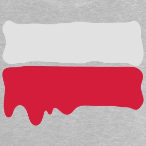 Runny paint flag Poland Shirts - Baby T-Shirt