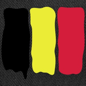 Belgian_flag_runny_paint Tee shirts - Casquette snapback