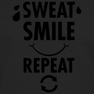 Sweat, Smile, Repeat T-shirts - Herre premium T-shirt med lange ærmer