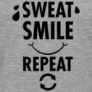 Sweat, Smile, Repeat T-Shirts - Männer Premium Langarmshirt