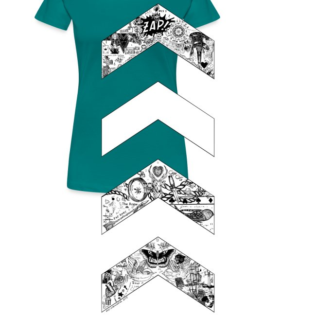 OT5 Chevrons by zaynscremebrulee womens shirt