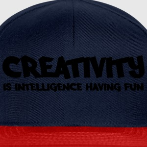 Creativity is intelligence having fun Topy - Czapka typu snapback