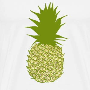 Ananas  Buttons & badges - Herre premium T-shirt