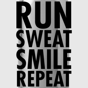 Run, Sweat, Smile, Repeat T-skjorter - Drikkeflaske